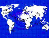 Trade Worldwide Shows Globe Biz And Business