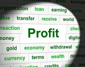 Revenue Profit Means Income Earn And Profits