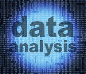 stock photo of byte  - Data Analysis Showing Knowledge Bytes And Information - JPG