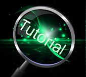 Tutorial Magnifier Indicates Educated Research And Education