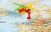 Liverpool Uk  Map Airplane  Pin