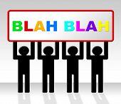 Speak Blah Represents Conversation Dialog And Speech