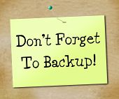 Backup Data Shows File Transfer And Archives