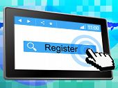 Register Online Indicates World Wide Web And Membership