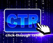 Click Through Rate Indicates World Wide Web And Analytics