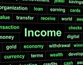 Income Earnings Shows Salaries Revenue And Wage