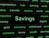 Savings Saved Indicates Financial Investment And Money
