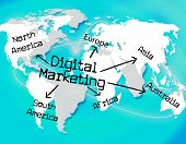 Digital Marketing Indicates Tech Technology And Selling
