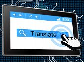 Online Translate Means World Wide Web And Language