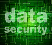Data Security Shows Protected Restricted And Unauthorized