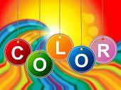 Colorful Color Means Paint Colors And Colour
