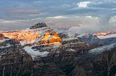 Mountain Range View With Colorful Peaks, Canada