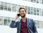 Cool Guy Calling With Cellphone