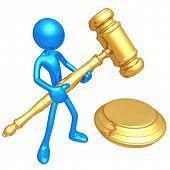 3D Judicial Gavel