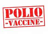 picture of polio  - POLIO VACCINE red Rubber Stamp over a white background - JPG