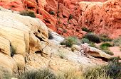 pic of valley fire  - interesting rock formations at the Valley of Fire State Park near Las Vegas Nevada - JPG