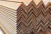 Neat rows of Angle steel