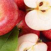 Red Fresh Apples As A Background