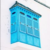 Old House With Blue Balcony, Sidi Bou Said, Tunisia