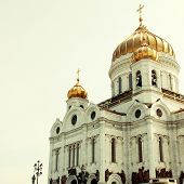 Christ The Savior Church In Moscow, Russia.