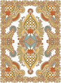Ukrainian Oriental Floral Ornamental Carpet Design