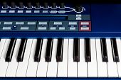 Keys blue piano synthesizer