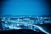 Xiamen Haicang Bridge At Night