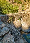 Ponte Di L'accia Bridge Near Corscia In Corsica