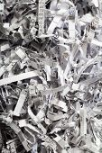 Closeup Of Shredded Paper As Abstract Background