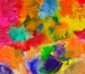 Oil Paint Textures On Canvas
