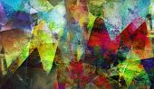 Abstract Polygonal Mixed Media