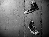 Sneakers Hanging