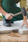Creating A Pavement Of Stone Blocks