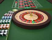 foto of roulette table  - Roulette table in a casino - JPG