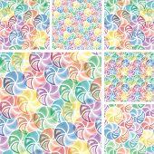 Seamless Vivid Swirl Patterns