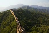 stock photo of qin dynasty  - Great Wall of China (Mutianyu section near Beijing)