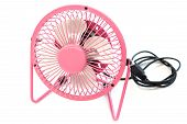 Fan Color Pink On White Background
