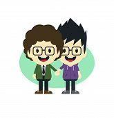 cute gay couple cartoon theme
