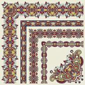 floral vintage frame design.All components are easy editable