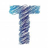 Sketched Letter T