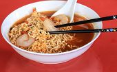 Chinese Noodles And Shrimp