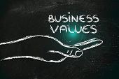 Successful Business Values In Your Hands