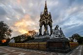 Albert Memorial, London At Sunset