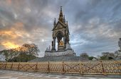 image of edwardian  - The London landmark in Hyde Park contrasting the neo-gothic monument against a threatening sky. 
