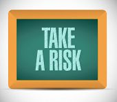 Take A Risk Message Illustration Design