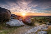 Beautiful Sunrise Over Countryside