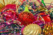 Old Christmas Toys With Tinsel