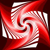 Design Colorful Vortex Movement Illusion Geometric Background