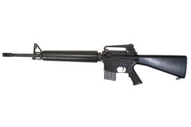 pic of m16  - M16 rifle isolated on a white background - JPG