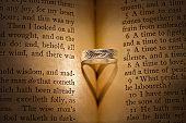 Wedding ring heart shadow